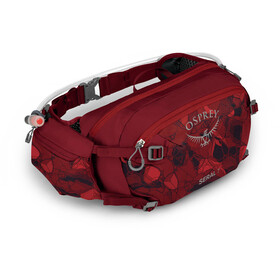Osprey Seral 7 Hydration Waist Pack with Reservoir, claret red